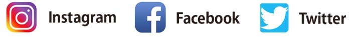 Instagram, Facebook, Twitter