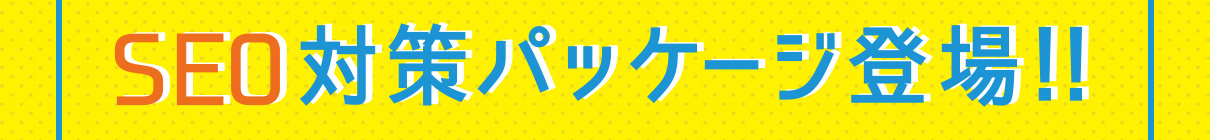 SEO対策パッケージ登場!!