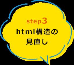 html構造の見直し